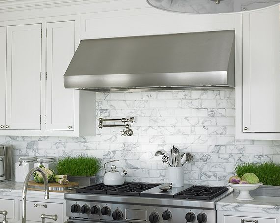 marble tile in kitchen white marble subway metro tiles used as kitchen range 7373