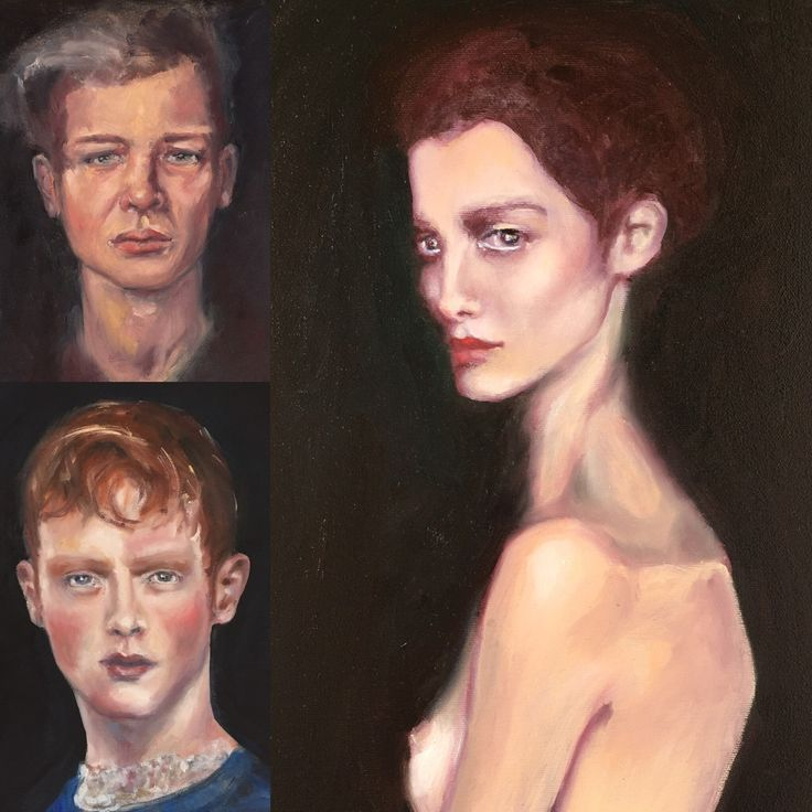 Oil on canvas. Portraits.