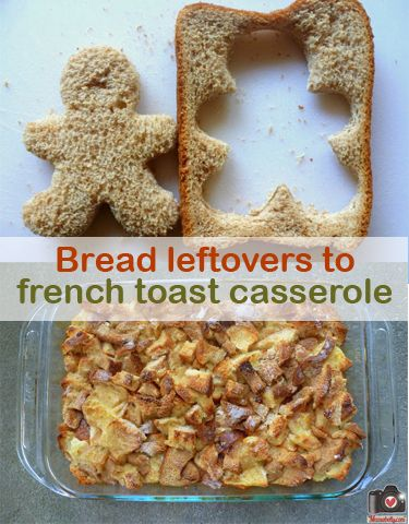make french toast casserole from bento scraps