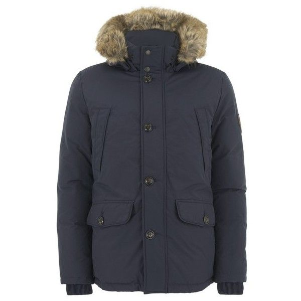 Tommy Hilfiger Men's Hooded Down Jacket (25885 RSD) ❤ liked on Polyvore featuring men's fashion, men's clothing, men's outerwear, men's jackets, blue, mens blue jacket, mens down jacket, mens cotton jacket, mens down filled jackets and mens down parka jackets