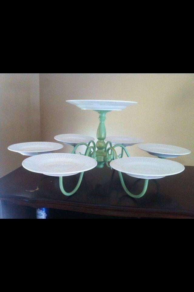 Old Chandelier Cake Platter.