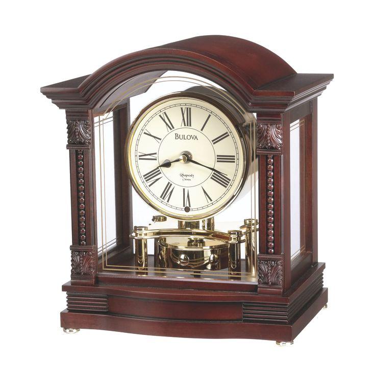 Bulova Bardwell Clock - -Antique Walnut Finish - GORGEOUS! >> http://jdtc.us/1oRcBli
