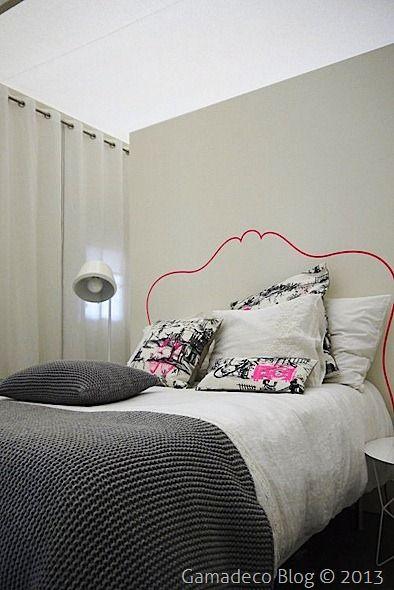 Como pintar el cabecero de la cama. headboard-pintar_cabecero_cama