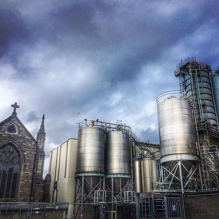#ireland #dublin #brewing #plant #guinness #factory #pipes #tanks #church #lovindublin #hdr #clouds #brewery #beer
