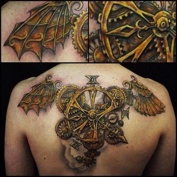 30 awesome steampunk tattoo designs steampunk tattoo for Easy steampunk ideas