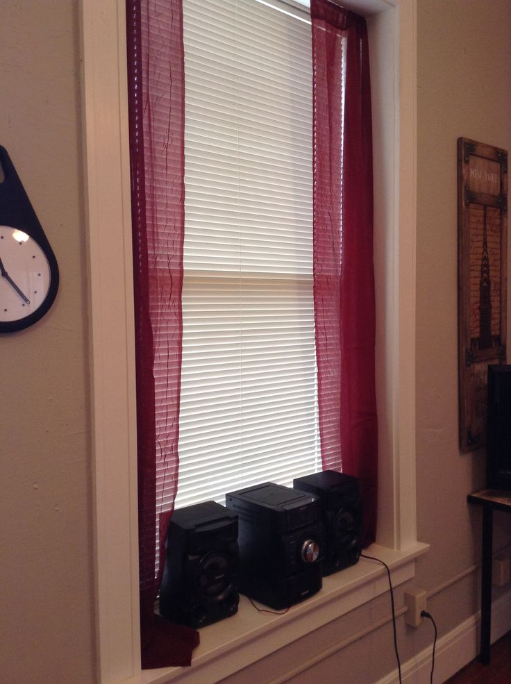 Spring Loaded Curtain Rod One Sheer Panel Cut In Half One Cheap Way To Bring Color To