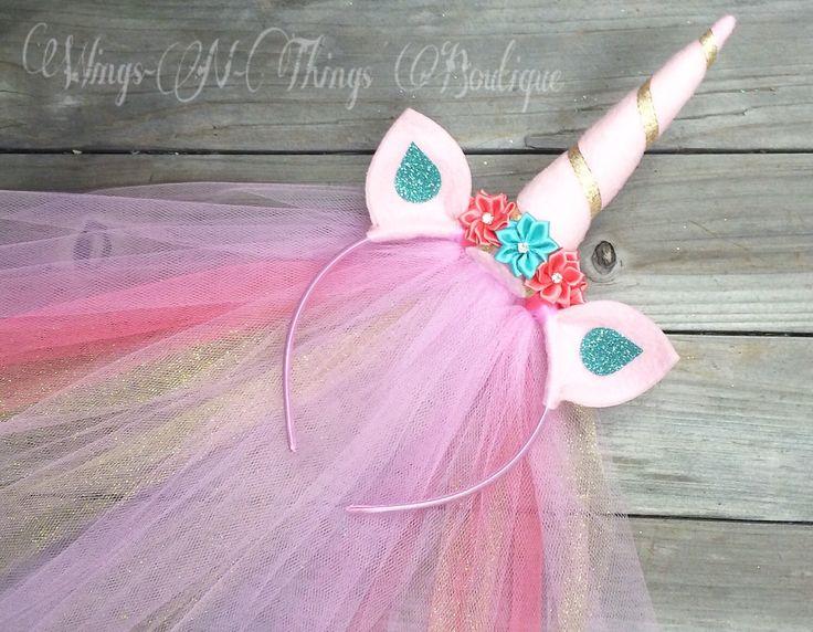 A personal favorite from my Etsy shop https://www.etsy.com/listing/278755850/pink-unicorn-princess-pony-headband-w