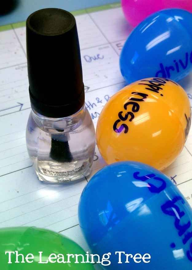 Need to seal in some marker? Use clear nail polish!