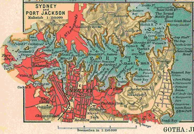 Map of Sydney seaports1906