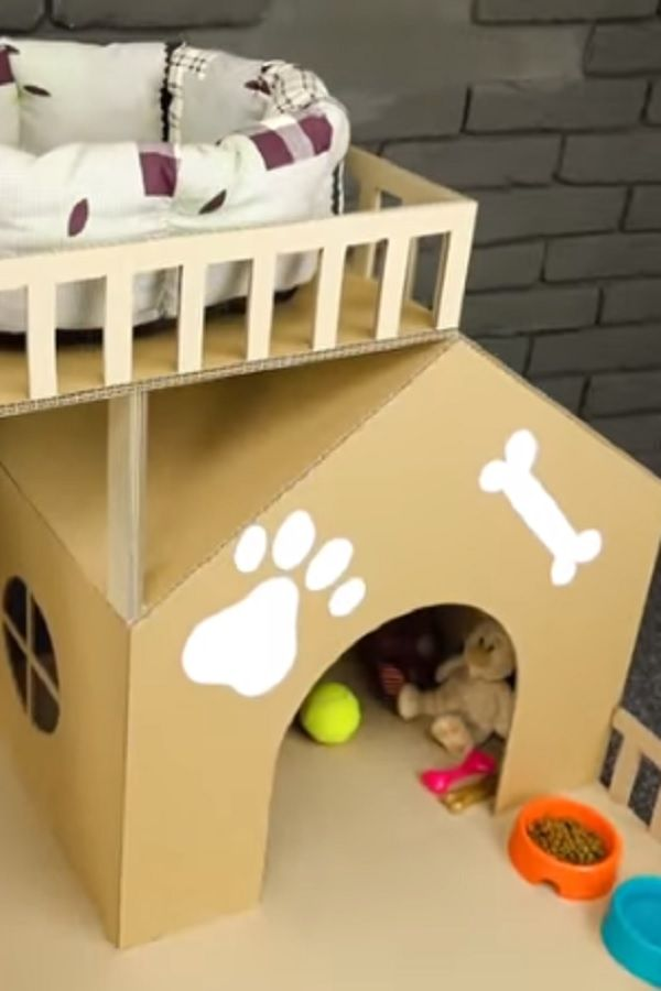 How To Make Amazing Puppy Dog House From Cardboard In This Video I