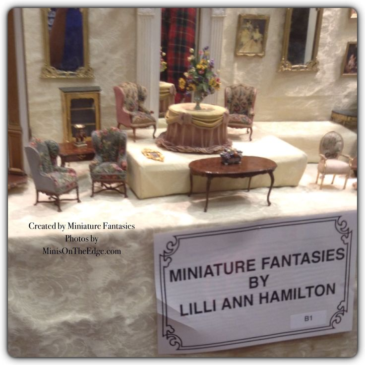 Dollhouse Miniatures Chicago: Created By Miniature Fantasies Photos By MinisOnTheEdge