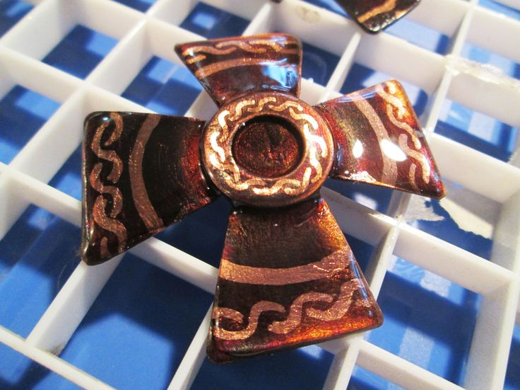 A Maltese Cross pendant in progress, with eco-friendly resin. From my True Magic line of jewelery. #truemagic #ecofriendly #copperpendant http://www.thetimacollection.com/catalog/item/4134275/10177954.htm
