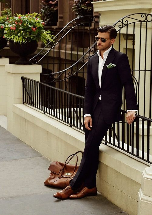 Masculine, mature, understated elegance... just how a man should dress