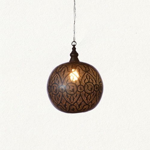 Oxidized Filigree Spheres mediterranean pendant lighting