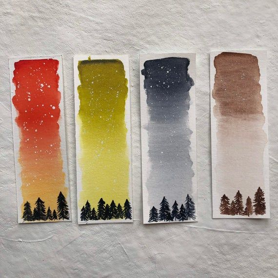 Watercolor Bookmarks Original Painting Customized Bookmark In