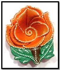 Rose shape diya