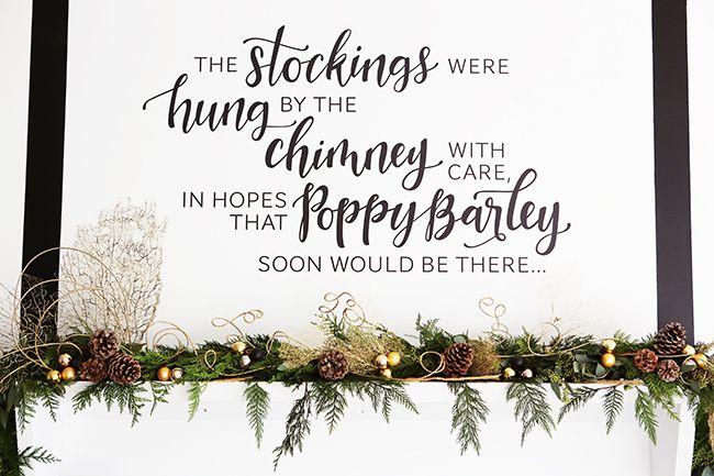 Poppy Barley Showroom - Holiday Mantel, Fabloomosity Garland, Photo by Andrea Hanki