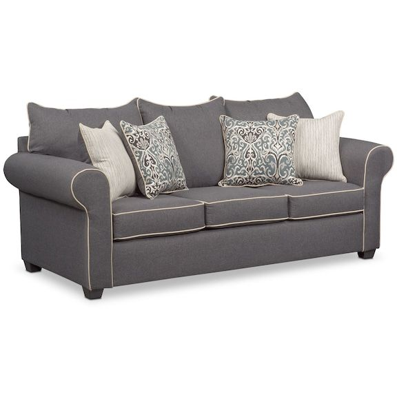 The Carla Collection - Gray | Value City Furniture and Mattresses