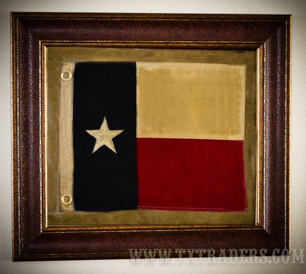Framed Texas Battle Flag - 3rd Republic of Texas Flag