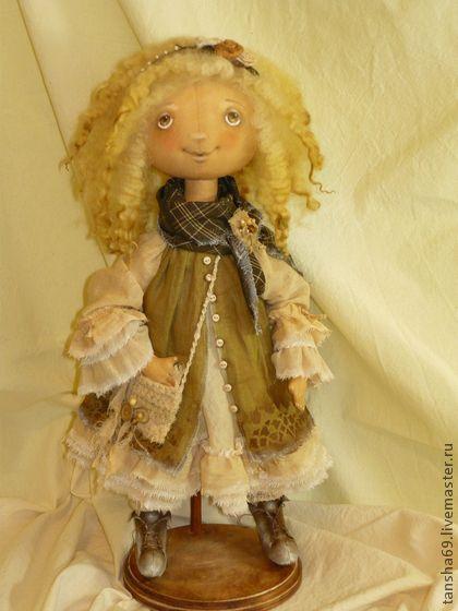 Купить Любимый БОХО! - хаки, тыквоголовка, тыквоголовая кукла, бохо, коллекционная кукла, ткань, синтепух