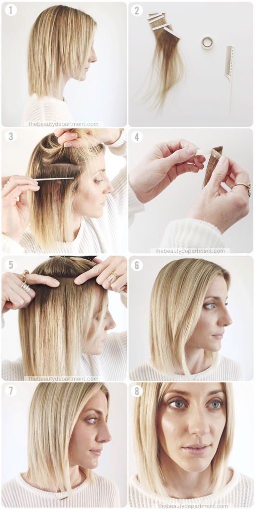 THE TEMPORARY TAPE EXTENSION MIRACLE | the beauty department | Bloglovin'