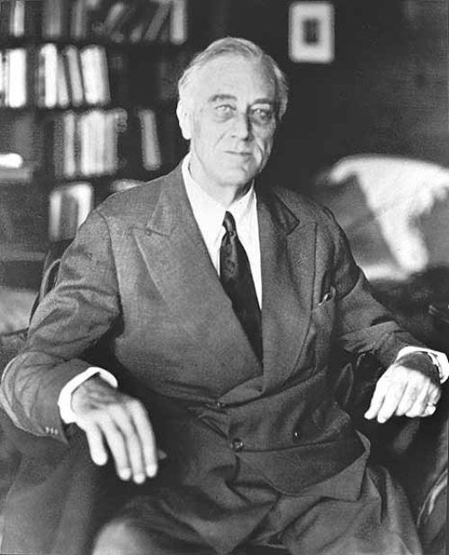 """President Franklin D. Roosevelt:  """"I, FRANKLIN D. ROOSEVELT, President of the United States of America, do set aside and appoint Thursday, the thirtieth day of November 1933, to be a Day of Thanksgiving for all our people.  May we on that day in our churches and in our homes give humble thanks for the blessings bestowed upon us during the year past by Almighty God.""""   http://www.wallbuilders.com/libissuesarticles.asp?id=3836"""