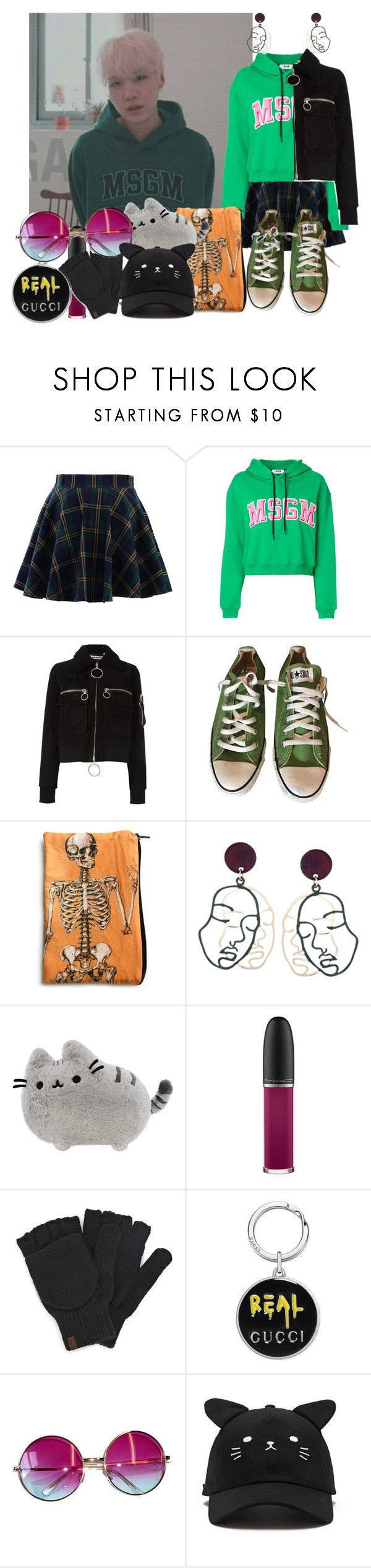 """//512//"" by danielagreg on Polyvore featuring Chicwish, MSGM, Off-White, Converse, Pusheen, MAC Cosmetics, Keds, Gucci, Janis and Forever 21"