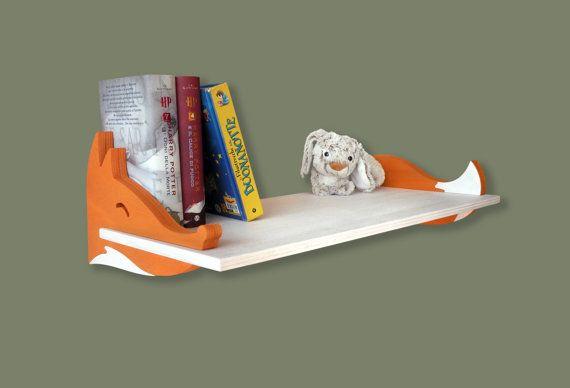 Mensola in legno per bambini Volpe idea regalo di MAMMprogetti