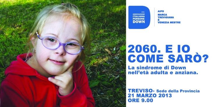 CONVEGNO   2060.E IO COME SARÒ?  La sindrome di down nell'età adulta e anziana.    http://www.medicinamoderna.tv/convegno-2060e-io-come-sarò