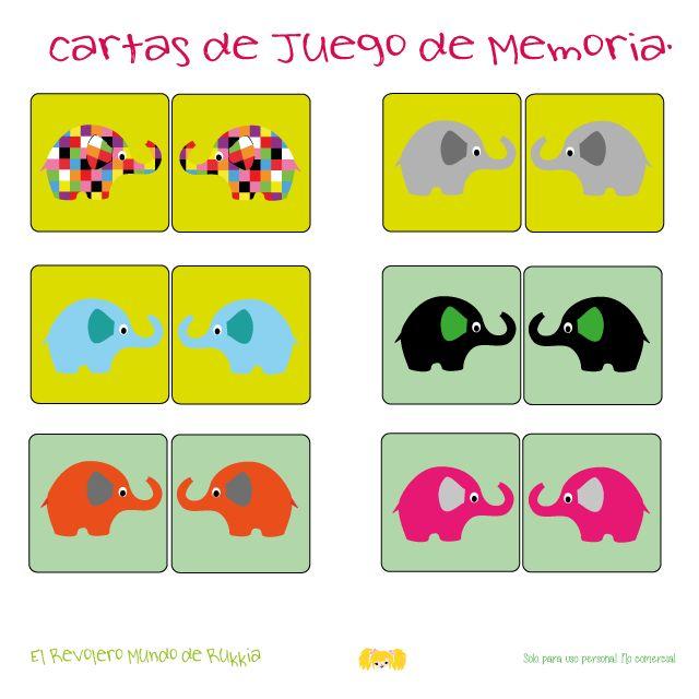 elmer, elmer the elephant, elmer actividades, elmer activities, fichas primaria, fichas infantil, juego memoria, observacion, puzzles, colorear