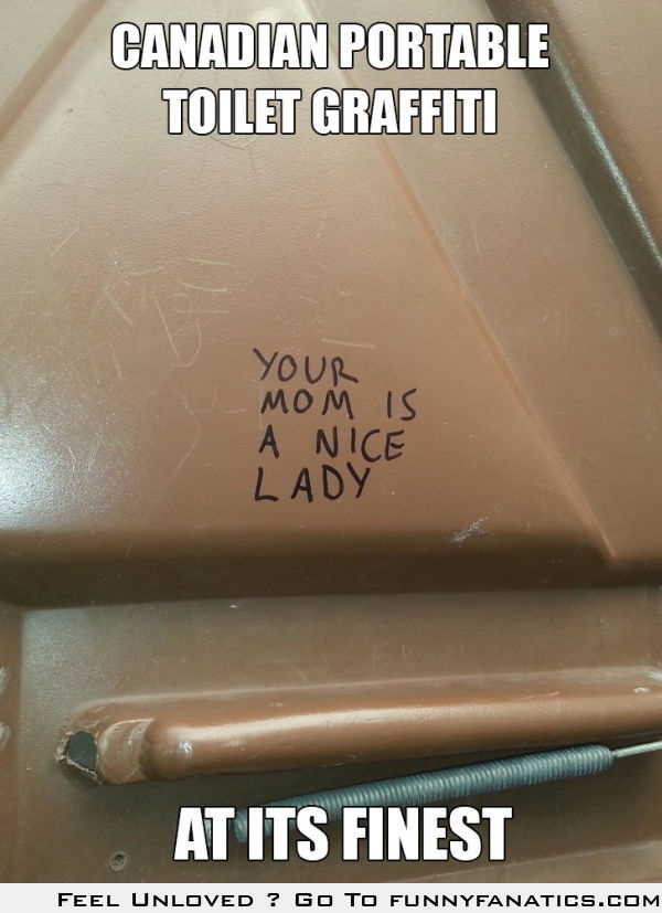 Canadian portable toilet graffiti