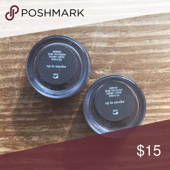 Up in Smoke Eyeshadow Bare Minerals Set of 2, brand new, sealed eyeshadows from Bare Minerals in the shade up in smoke. Please ask if you have any questions, need any measurements or more pictures. ❌No Trades❌💕Price is Firm💕 bareMinerals Makeup Eyeshadow