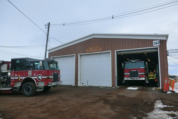 Antarctic Fire Department, Engines 1 & 2; McMurdo Station, Antarctica...the SOUTHERNMOST American fire station...