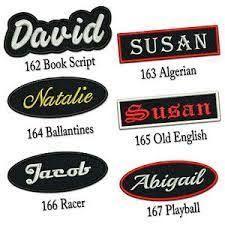 Resultado de imagen para embroidered name tags for school