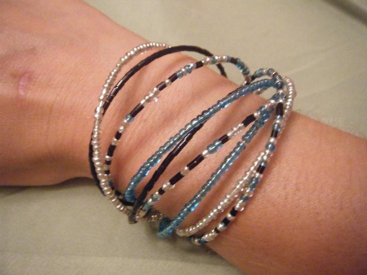 Beaded cuff bracelet 650 via etsy beaded cuff