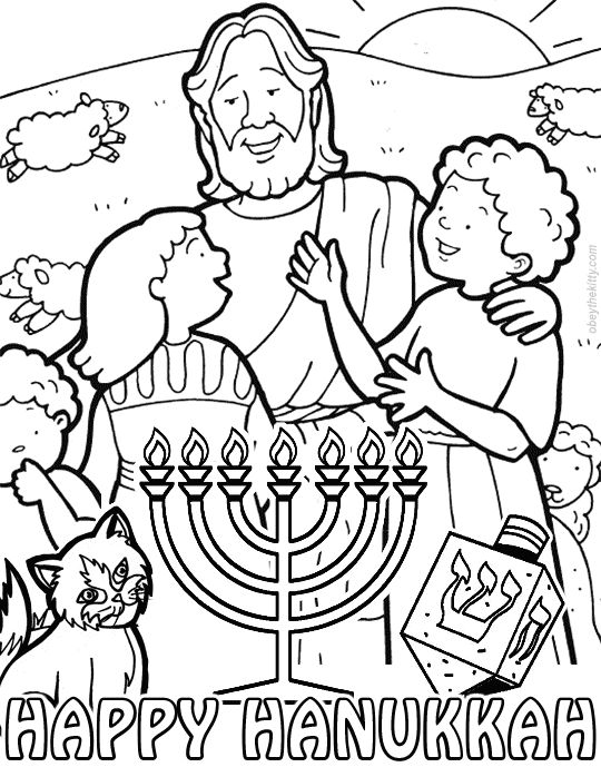 hanakah coloring pages - photo#17