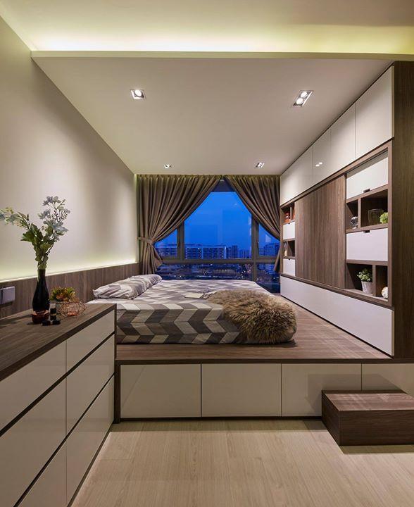 Platform Bed Singapore Condominium Interior Design Condominium