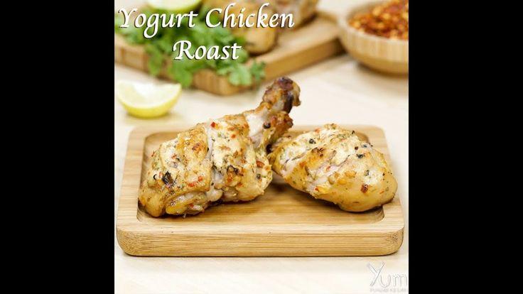 Yogurt Chicken Roast | Yogurt-Marinated Roast Chicken | yogurt chicken r...
