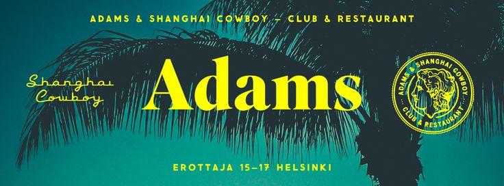 ADAMS Club & Restaurant website. Design: Tony Eräpuro #coverphoto #facebook #promotion #graphicdesign