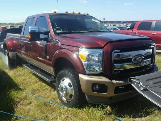 Salvage 2011 Ford F350 King Ranch Pickup For Sale | Flood Title