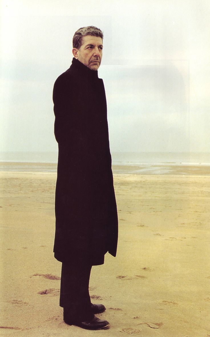 """How can I begin anything new with all of yesterday in me?"" ~ Leonard Cohen (Beautiful Losers) / Cohen At Trouville-sur-Mer (1988) By Claude Gassian"