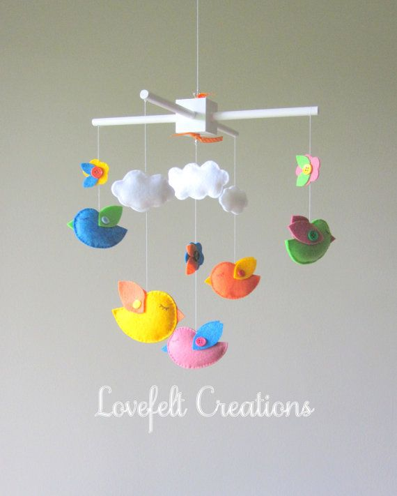 17 best images about baby 39 s room on pinterest hanging for Bird mobiles for nursery