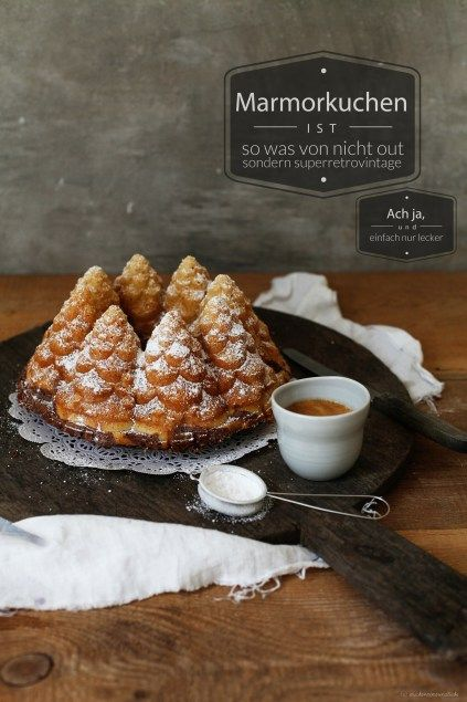latte macchiato marble bundt cake and please I want this cake pan ;)                             .