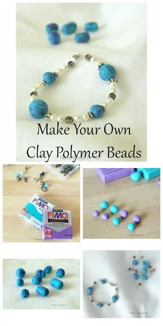 Make Your Own Clay Polymer Beads - simple tutorial to make clay beads