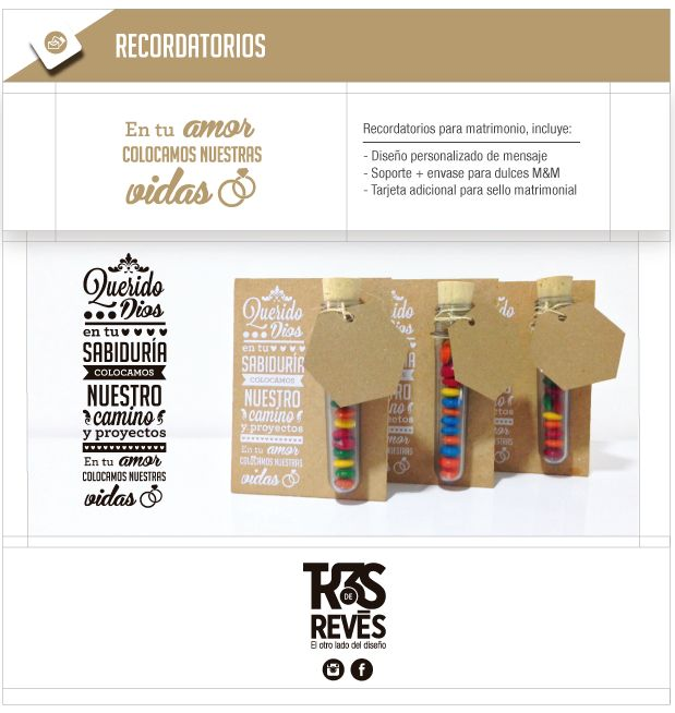 Tarjetas y empaques//Recordatorios matrimonio on Behance