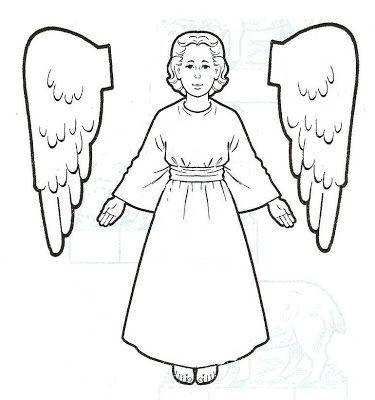 Modelos de anjos para recortar e montar! ~ ESPAÇO EDUCAR ANGEL GABRIEL