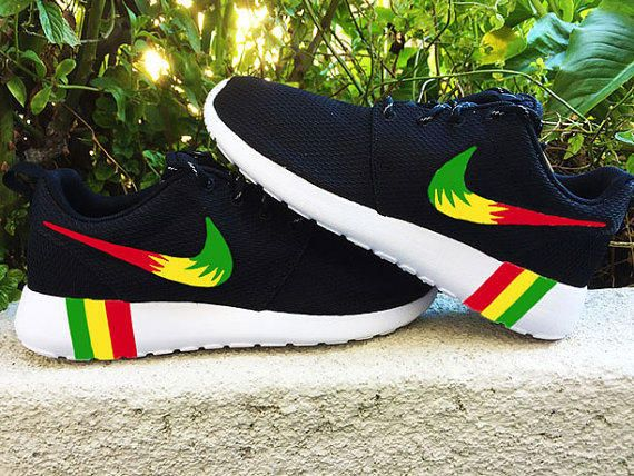 nike shoes with reggae colors on black feet memes funny 879590
