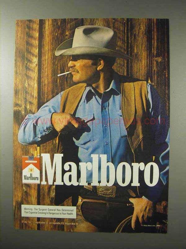 becf0ab96cda5 1984 Marlboro Cigarettes Advertisement - Marlboro Man