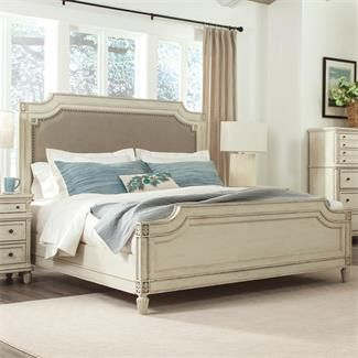 huntleigh carved upholstered bed i riverside furniture bedroom setsmaster