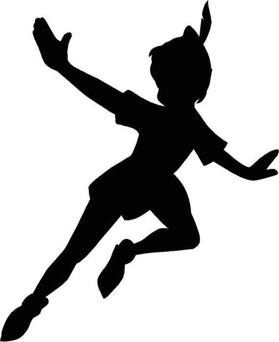 Peter Pan flying Silhouette 12.25x15 Vinyl Decal Wall Art Custom on Etsy, $12.95